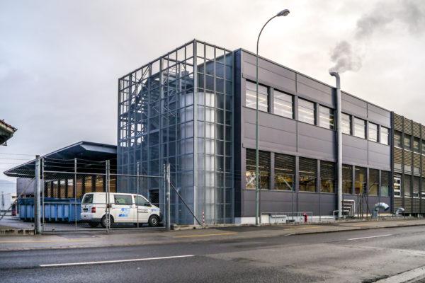 Umbau und Erweiterung Textilfiliale WPL, Thun (grösstes Wäschezentrum CH)